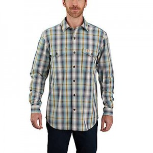 Carhartt Relaxed Fit Cotton Long-Sleeve Plaid Shirt