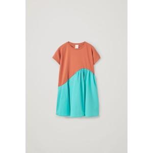 ORGANIC COTTON CONTRAST PANEL DRESS