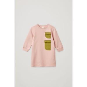 ORGANIC COTTON LONG-SLEEVE PATCH POCKET JERSEY DRESS