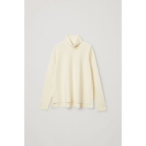 ORGANIC COTTON A-LINE ROLL NECK TOP