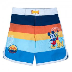 Mickey Mouse and Pluto Swim Trunks for Boys