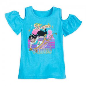 Jasmine Cold Shoulder T-Shirt for Girls - Aladdin