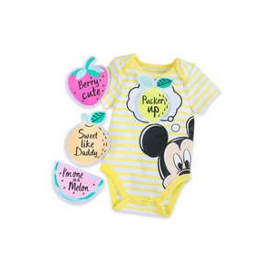Mickey Mouse Bodysuit and Patches Gift Set