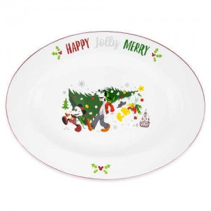Santa Mickey Mouse and Friends Holiday Serving Platter