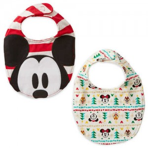 Mickey and Minnie Mouse Holiday Bib Set for Baby - 2-Pack