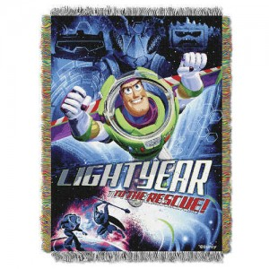 Buzz Lightyear Woven Tapestry Throw - Toy Story