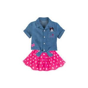 Minnie Mouse Top and Skirt Set for Girls
