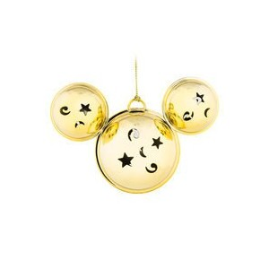 Mickey Mouse Bell Ornament - Gold