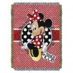 Minnie Mouse Woven Tapestry Throw