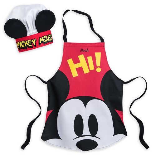 디즈니 Mickey Mouse Apron and Hat Set for Kids - Disney Eats - Personalizable