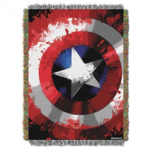 Captain American Woven Tapestry Throw