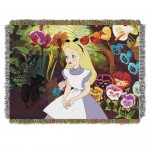 Alice in Wonderland Woven Tapestry Throw