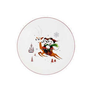 Santa Mickey Mouse and Friends Holiday Dinner Plate