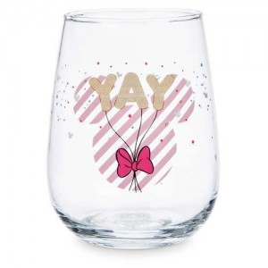 Minnie Mouse Stemless Wine Glass