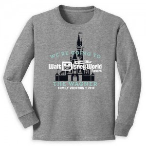 Walt Disney World 2019 Family Vacation Long Sleeve Shirt for Kids - Customized
