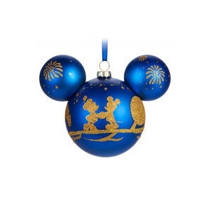 Mickey Mouse Icon Glass Ornament - Walt Disney World