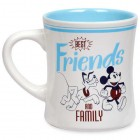 Mickey Mouse and Pluto Best Friends and Family Mug