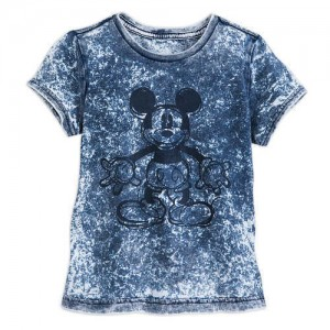 Mickey Mouse Mineral Wash T-Shirt for Girls