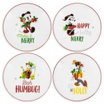 Santa Mickey Mouse and Friends Holiday Salad Plate Set
