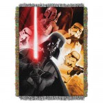 Darth Vader and Stormtroopers Woven Tapestry Throw - Star Wars