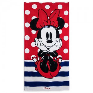 Minnie Mouse Polka Dot Beach Towel - Personalizable