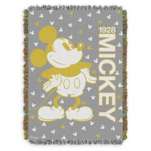 Mickey Mouse Golden Woven Tapestry Throw
