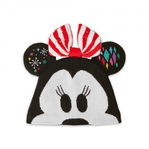 Minnie Mouse Light-Up Knit Holiday Ear Hat for Kids