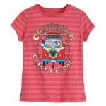 Mickey Mouse and Friends Cruising Coast to Coast T-Shirt for Girls