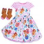 Bambi Dress and Socks Set for Girls - Disney Furrytale friends