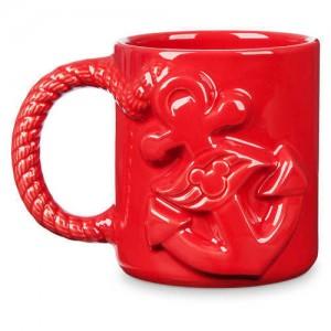 Disney Cruise Line Anchor Mug - Red