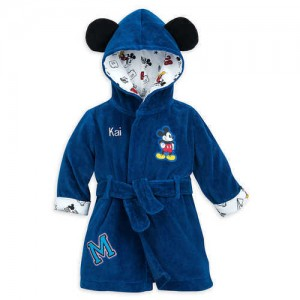Mickey Mouse Hooded Bath Robe for Baby - Personalizable