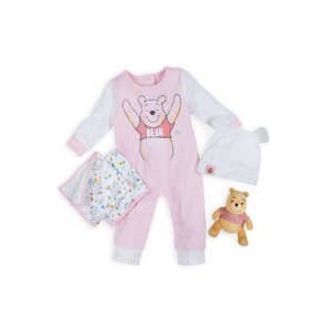 Winnie the Pooh Gift Set for Baby - Pink