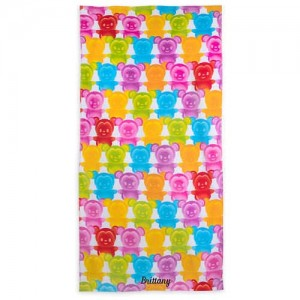 Mickey and Minnie Mouse Gummy Bear Beach Towel - Personalizable