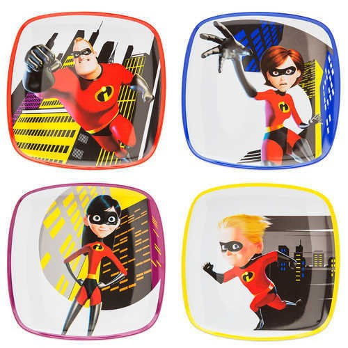 디즈니 Incredibles 2 Plate Set