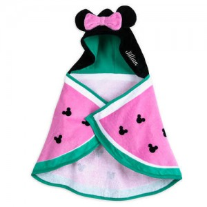 Minnie Mouse Hooded Swim Towel for Baby - Personalized