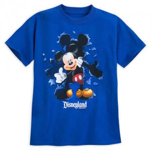 Mickey Mouse Burst Out Tee for Kids - Disneyland