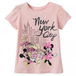 Mickey and Minnie Mouse Shopping T-Shirt for Girls - New York City