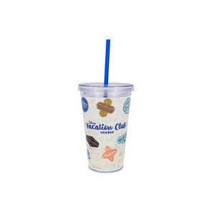 Disney Vacation Club Tumbler with Straw