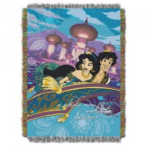Aladdin and Jasmine Woven Tapestry Throw