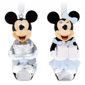 Mickey and Minnie Mouse Formal Bell Ornament Set
