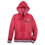 Minnie Mouse Red Dots Zip Hoodie for Women