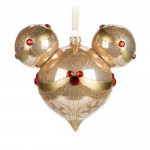 Mickey Mouse Icon Glass Ornament - Champagne