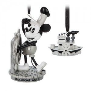 Mickey Mouse Through the Years Sketchbook Ornament Set - Steamboat Willie - February - Limited Release