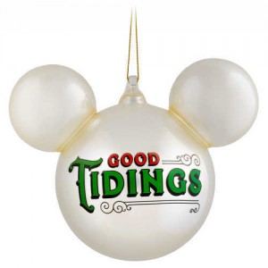 Mickey Mouse Icon Ball Ornament - Pearl