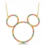 Mickey Mouse Rainbow Icon Outline Necklace by CRISLU