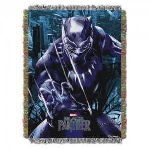 Black Panther Woven Tapestry Throw