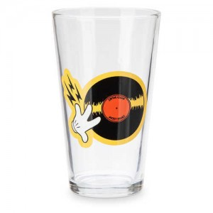 Mickey Mouse DJ Drinking Glass