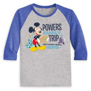 Mickey Mouse Family Vacation Raglan Shirt for Kids - Walt Disney World 2019 - Customized