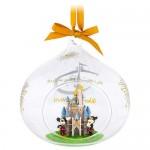 Cinderella Castle Glass Drop Ornament - Walt Disney World