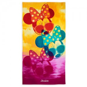 Minnie Mouse Beach Towel - Personalizable